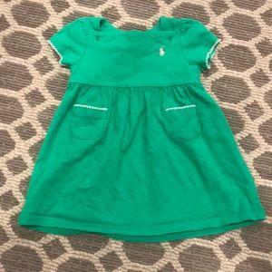 Ralph Lauren little girls dress- emerald green 6mo